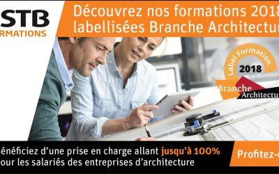 Les formations du CSTB labellisées « Branche Architecture 2018 »