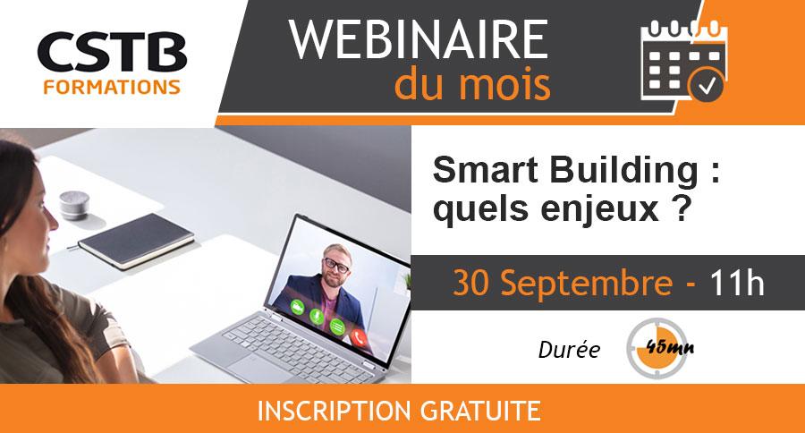 Webinaire Smart Building : quels enjeux ?